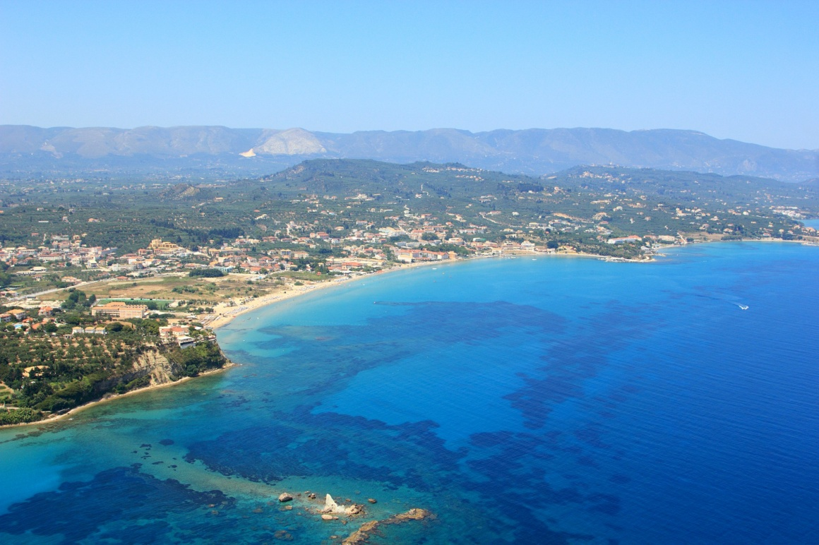 'Aerial view on Zakynthos Greece - Tsilivi' - Ζάκυνθος
